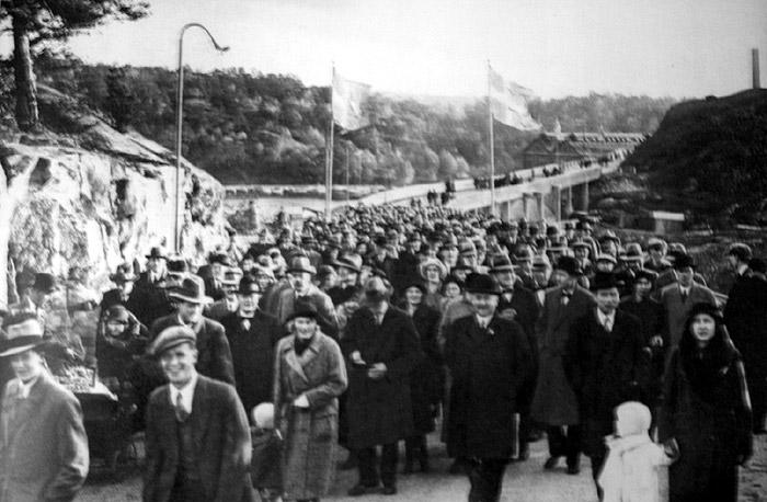 Invigningen av Kvarnholmsbron 1924