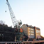 Sista lyftkranen i Finnboda skrotades för några år sedan