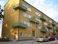 Stora stenhuset på Kvarnholmen i funktionalistisk stil