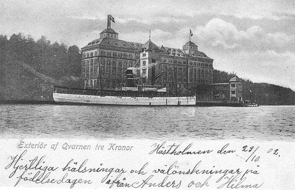 Qvarnen Tre Kronor på Kvarnholmen i Nacka