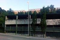 Parkeringshuset på Kvarnholmsvägen