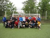 Fotbollskillar på Henriksdalsbergets konstgräsplan