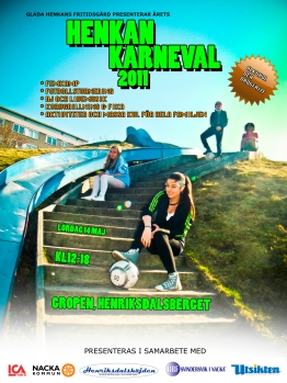 Affisch för Henkankarnevalen 2011 på Henriksdalsberget
