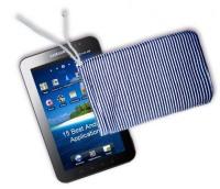 Samsung Galaxy Tab med fodral gjort av Henriksdals kemtvätt och skrädderi