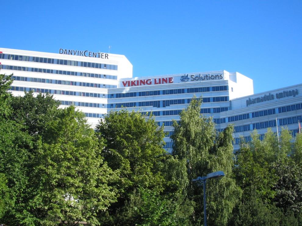 DanvikCenter med Viking Line och 24 Solutions loggor