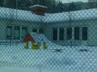 Snötäcke över Inspiras Finnboda förskola
