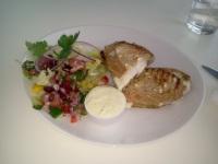 Grillad vegetarisk macka från Bakarna kafé & konditori