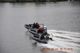 Tre av SeaCat Marine AB:s RIB-båtar