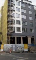 Affärslokalen i hörnan Henriksdalsallén / Pollargatan i Henriksdalshamnen