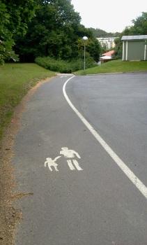 Gångväg vid Vilans skola