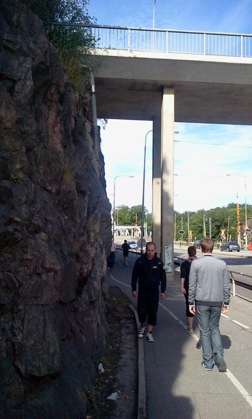 Gångväg och cykelbana under Hästholmsviadukten mellan Sjöstaden och Södermalm