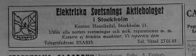 Annons för Elektriska Svetsnings Aktiegolaget i Henriksdalshamnen