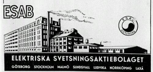 Annons för Elektriska Svetsningsaktiebolaget i Göteborg