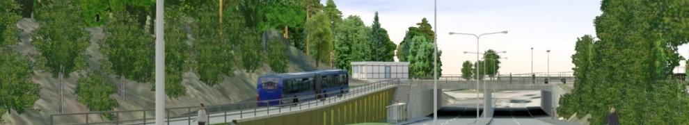 Bussterminalen i Henriksdal - Kvarnholmsvägen