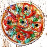 pizza på usa pizza express på danviksklippan i stockholm