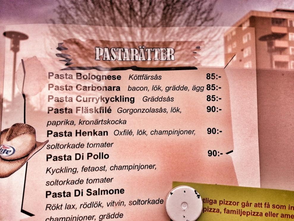 Meny på Henkan Kök & Bar på Henriksdalsberget