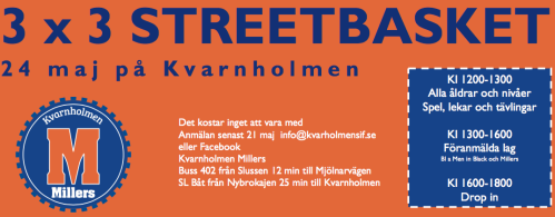 kvarnholmens dag 2015: streetbasket med kvarnholmen millers