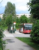 buss 53 på henriksdalsberget i nacka