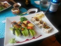 vegetarisk sushi på danviks sushi center i nacka