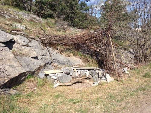 överlevnadskoja på kvarnholmen