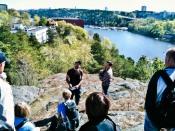 Naturvandring 2010 i Trolldalen, Nacka, Konstantin berättar