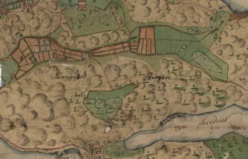 Karta för arealmätning av Henriksdalsberget och Trolldalen (1782)
