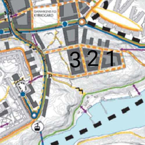 """Ett kvarter (märkt med """"3"""") blev borttaget från planerna att bygga i skogen Trolldalen i Nacka"""