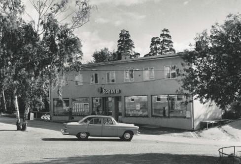 Gamla Konsum-butiken på Kvarnholmen i Nacka