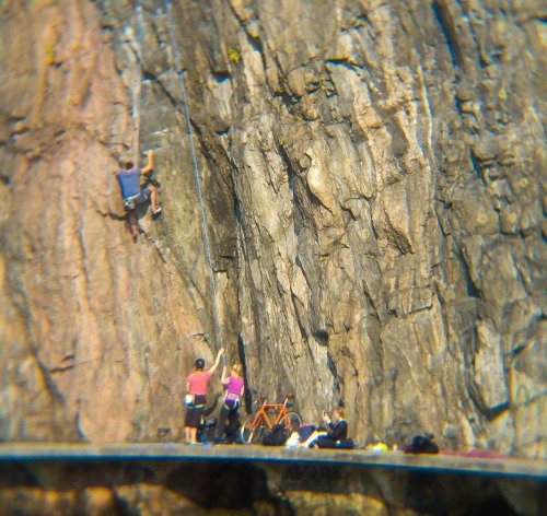 Klättring på Danviksklippan