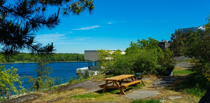 Rekreationsområdet norr om funkisområdet på Kvarnholmen i Nacka