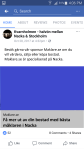 Exempel av annons på Facebook-sida (mobilt).