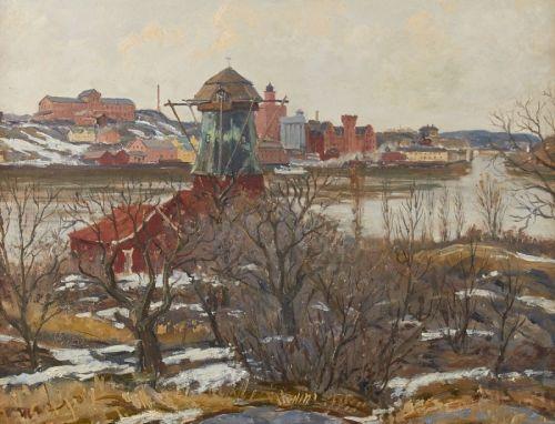 Utsikten från Waldemarsudde mot Saltsjöqvarn och Henriksborg av Gunnar Zetterström