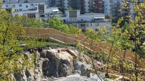 Utmanande trappan till Finnboda under tiden som HSB bygger Finnboda Trädgårdar