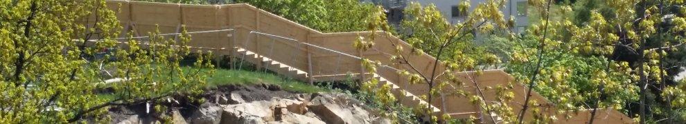 Nya trappan mellan Finnbodaberget och Finnboda