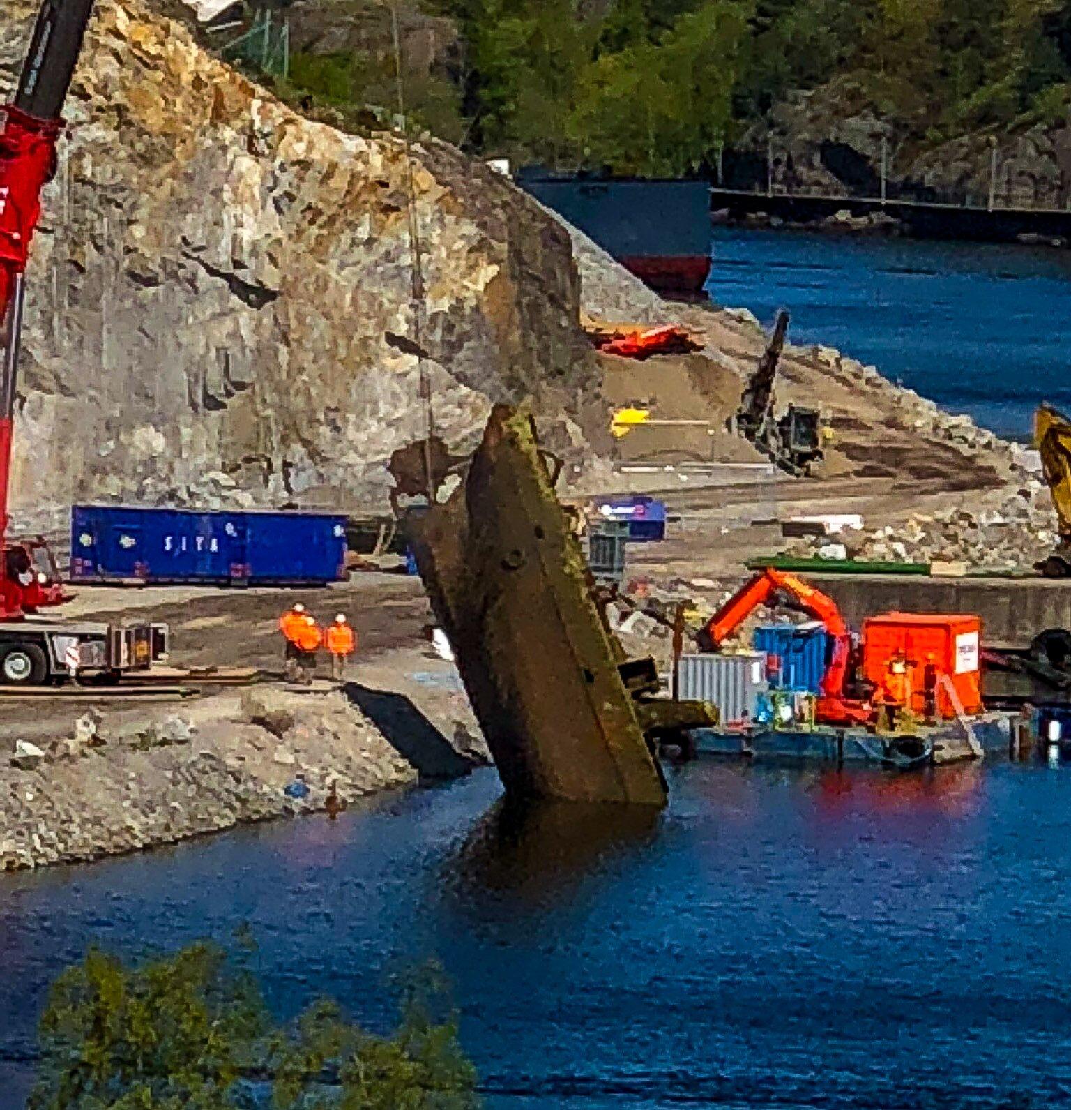 Bärgning av skeppsvrak på Kvarnholmen