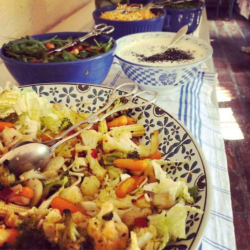 Vegetarisk buffé på Svindersviks brygghus