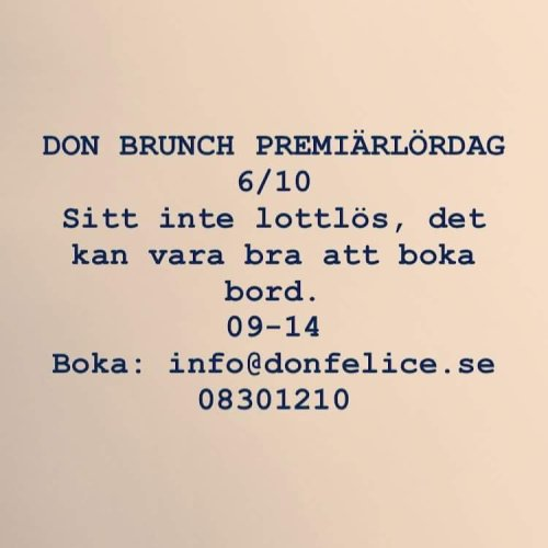 Brunch på Don Felice