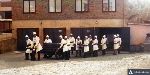 Brandkåren vid Finnboda varv