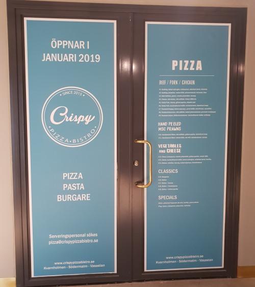 Crispy pizza på Kvarnholmen