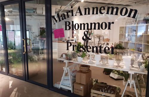 Blomsterbutiken MariAnnemon på Kvarnholmen