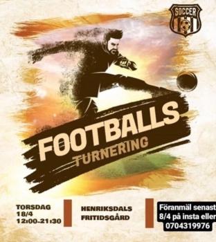 Fotbollsturnering på Henriksdalsberget
