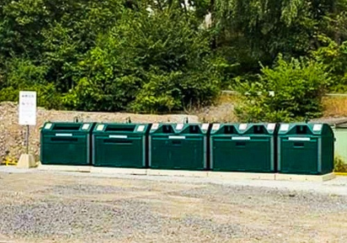 Återvinningsstation på Mjölnarvägen